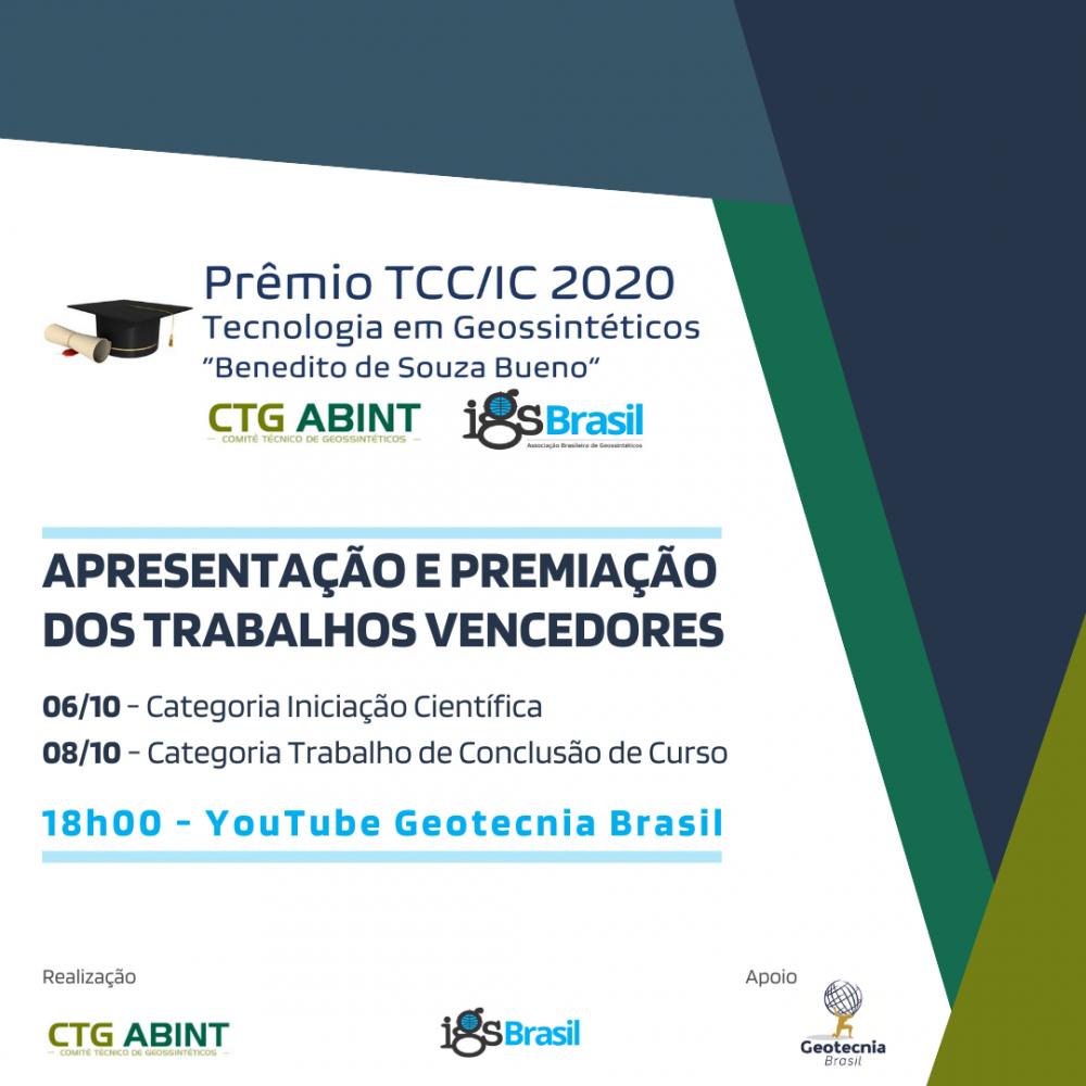 2º dia Apresentação dos trabalhos vencedores do Prêmio TCC/IC 2020
