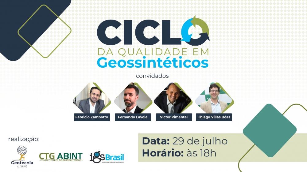 Ciclo da Qualidade em GEOSSINTÉTICOS CTG ABINT e IGS Brasil