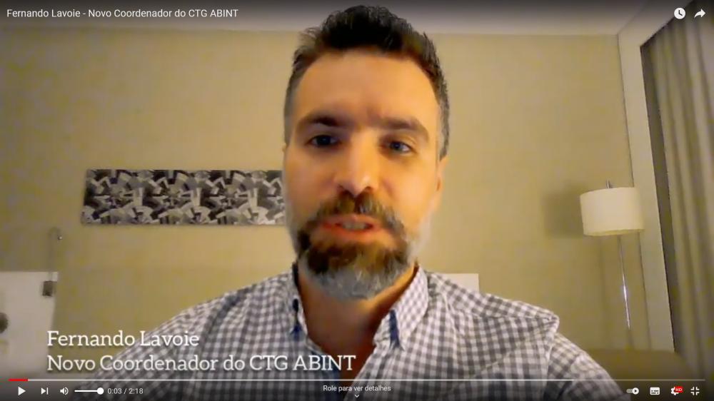 Fernando Lavoie - Novo coordenador do CTG ABINT
